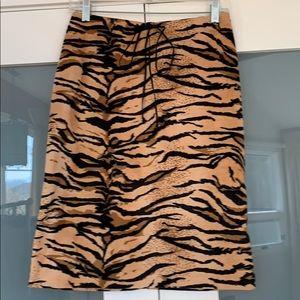 Betsey Johnson Tiger Pattern Midi Skirt